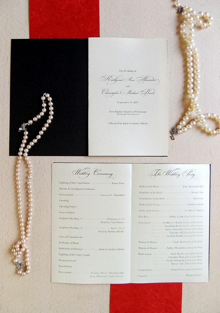 Elegant Wedding Program from Emily Edson Design https://www.etsy.com/listing/157373191/ceremony-program-custom-printable-pdf?ref=shop_home_active DIY Wedding Program, Ceremony Booklet Program