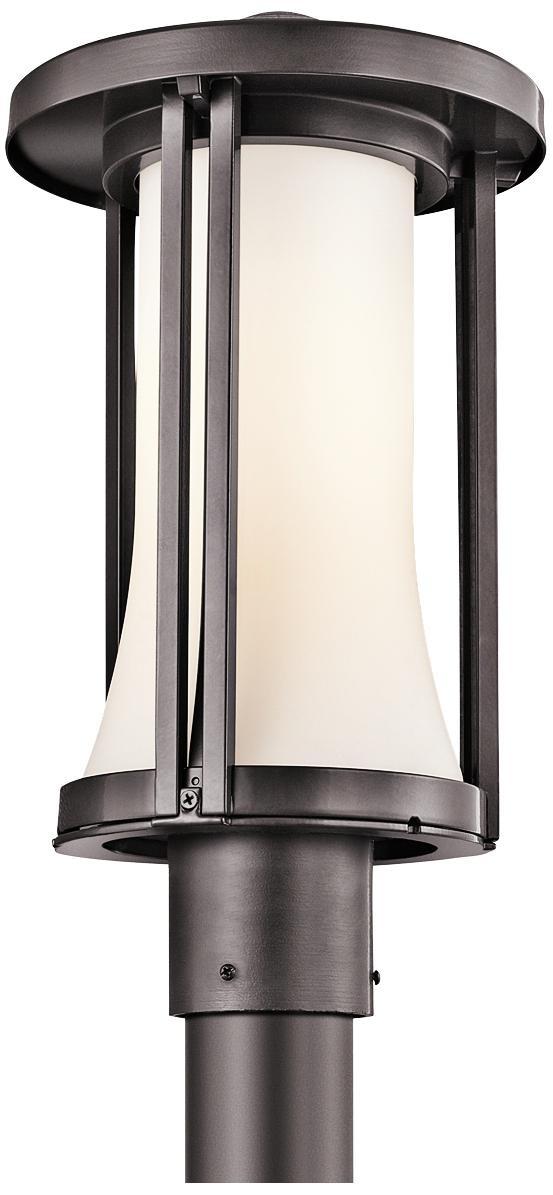 "Kichler Tiverton 17"" High Bronze Finish Outdoor Post Light -"