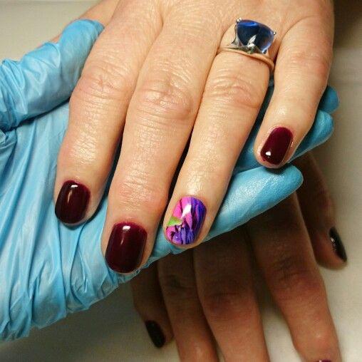 Комбинированный #маникюр, укрепление ногтей и покрытие BSG 10 Pinotage, термоусадочные #пленки #NCLA   #biosculpturegel #биогель #укрепление #моделирование #уход #биоскульптурныйгель #BSG  #ногти #nailart #naildesign #nails #monaco_nails #комендантский #комендантскийпроспект #приморскийрайон #ногти_спб #Спб #дизайнногтей #идеальныйманикюр