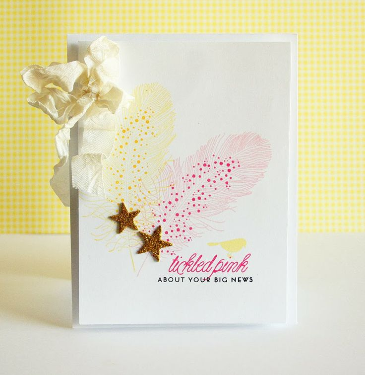 Tickled Pink Card by Danielle Flanders for Papertrey Ink (January 2014)