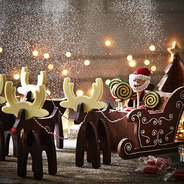 Yay this is now mine!!! Now to wait patiently until Christmas to make one!!  Super cute for the Kids!  Santa's Sleigh Mould - From Lakeland