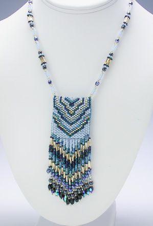 patterns for peyote stitch amulet bags | Peyote Stitch Bead Pattern: Bookmark made with Delica beads (odd
