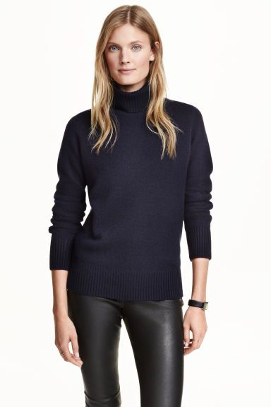 Camisola gola alta de caxemira | H&M