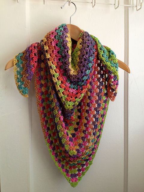 Ravelry: Project Gallery for Half Granny Square Shawl pattern by Anastacia Zittel
