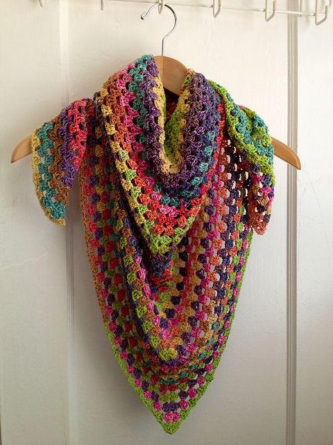 Free Crochet Pattern For Half Granny Square Shawl Dancox For