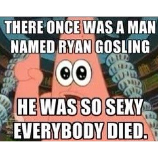 Love Patrick and thought this was so funny. Especially if you read it in his voice
