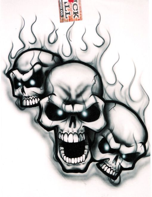 Skulls Airbrushing Free Skull Stencils Tattoo Designs Page 2 Pictures