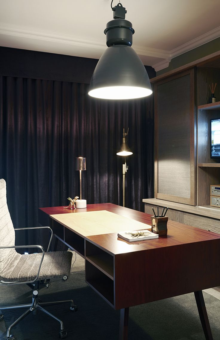 Gentlemen | Study | Work from home | Desk | Oak | grey & purple | Apartment | Interior design | Etienne Hanekom Interiors
