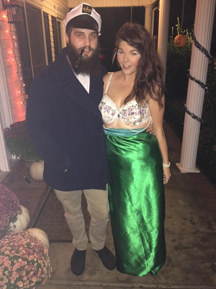 homemade Mermaid and captain costume                                                                                                                                                                                 More