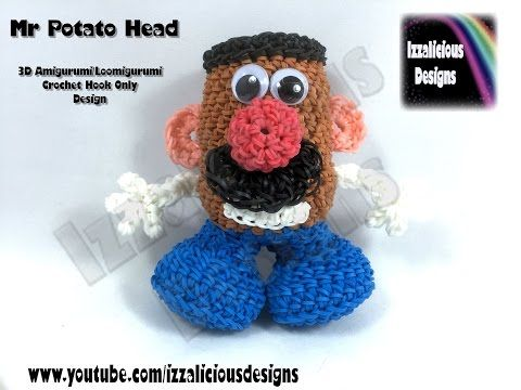 Rainbow Loom 3D Amigurumi/Loomigurumi Mr Potato Head Doll - Crochet Hook ONLY (loomless/loom-less) - YouTube