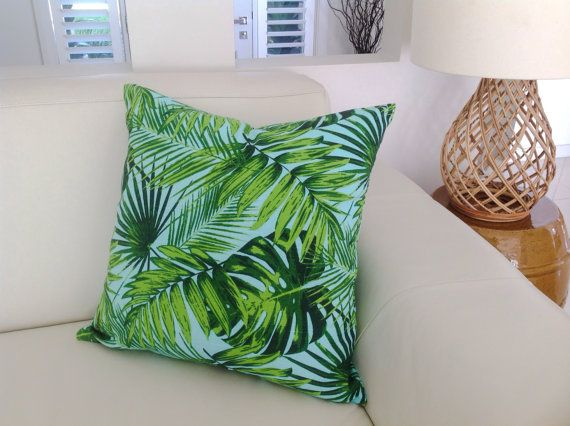 Hey, I found this really awesome Etsy listing at https://www.etsy.com/listing/217791670/palm-leaf-tropical-pillows-tropical