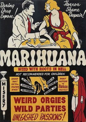 This is fantastic! I want it! I love vintage ads. I would love to have them framed all over my apartment. Vintage 1930's Marihuana/ Marijuana Anti Drugs Poster