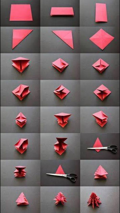 Origami- christmas tree