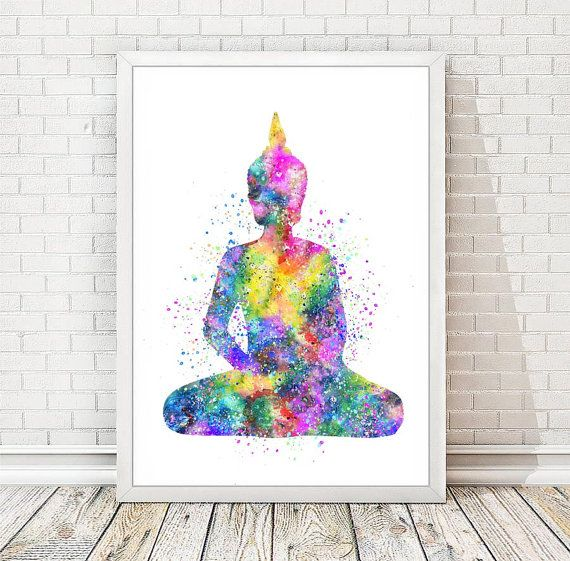 Buddha Print Printed on quality matte archival paper with archival inks. It is available in a variety of sizes to best fit your interior. Great for