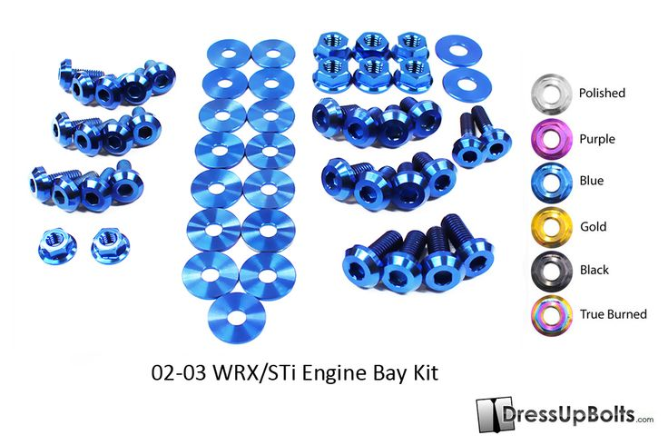 New Product alert! Subie's unit! Here is our new Engine Bay Dress Up Bolts Titanium fastener kit for your 2002-2003 Subaru WRX/STi! This mean we now have a kit for every WRX/STi from 2002-2015! http://www.dressupbolts.com/products/subaru-wrx-and-sti-2002-2003-gd-gg-titanium-dress-up-bolts-engine-bay-kit ‪#‎subie‬ ‪#‎subaru‬ ‪#‎wrx‬ ‪#‎sti‬ ‪#‎dress‬ ‪#‎up‬ ‪#‎bolts‬ ‪#‎dressupbolts‬ ‪#‎titanium‬ ‪#‎ti‬ ‪#‎fasteners‬ ‪#‎engine‬ ‪#‎bay‬