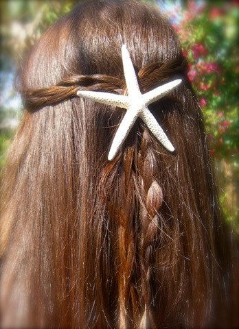 Starfish Hair ClipStarfish Hair Accessory by sandnsurfcreations, $12.50