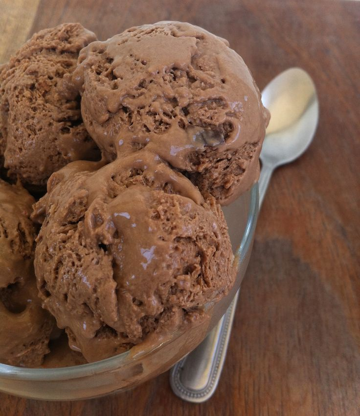 Sorvete caseiro de chocolate - Chocolate icecream