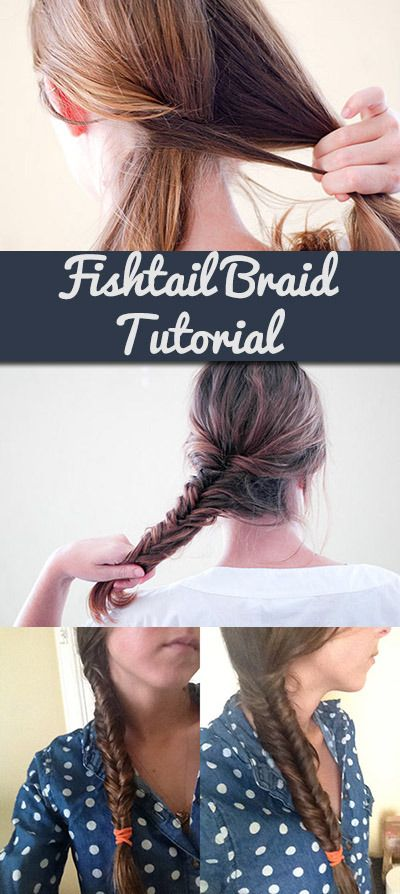 "Fishtail Braid Tutorial - I have always wanted to learn how to do this braid.  Although, I was brought up calling it a ""Fish Bone Braid."""