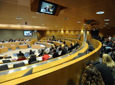 Conseil régional d'Alsace: rideau