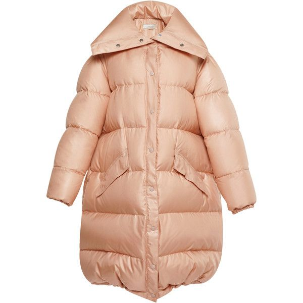 Oversized Puffer Coat | Moda Operandi (7,480 ILS) ❤ liked on Polyvore featuring outerwear, coats, red coat, puffy coat, oversized puffer coat, oversized coat and red puffy coat