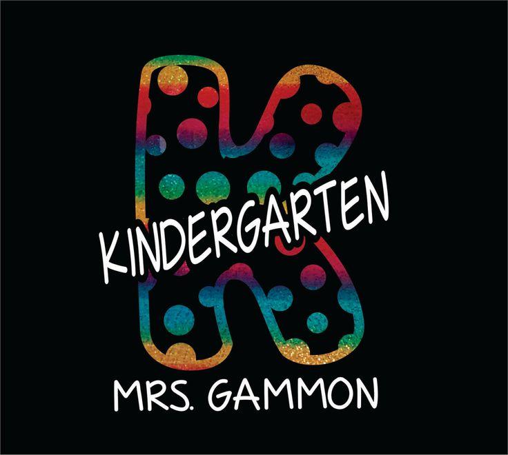 Rainbow Polka Dot DIY Iron On Bling Transfer for Teacher tshirts Kindergarten Teacher School Spirit Elementary School 1st grade by EazyOnz on Etsy