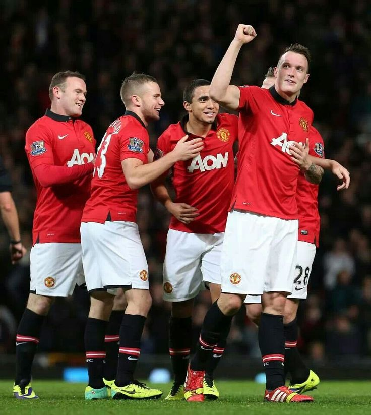 Lads celebrate with Phil Jones in goal against Norwich City in Capital One Cup.