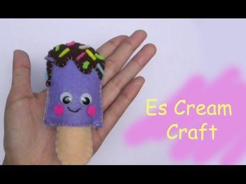 DIY Es Cream Doll Craft Purple | American Girl Doll Dollhouse Crafts | E...