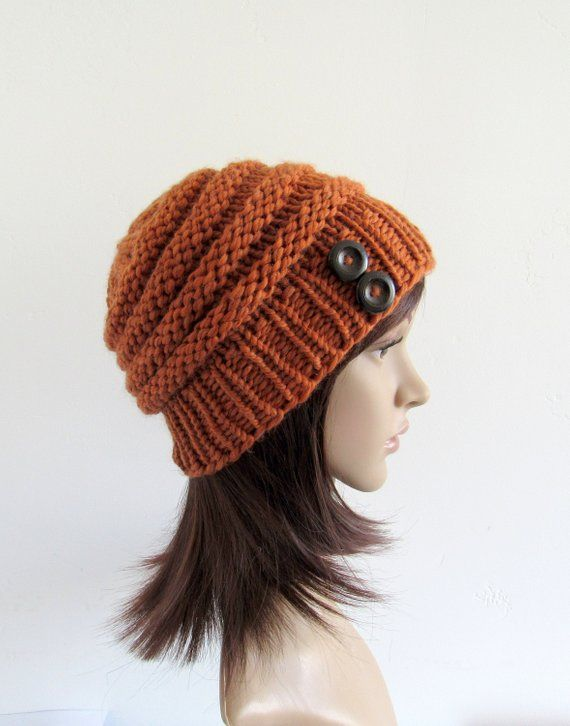 53b44bc9dc4 Merino Wool Orange Beanie
