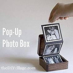 pop up photo box, diy home crafts