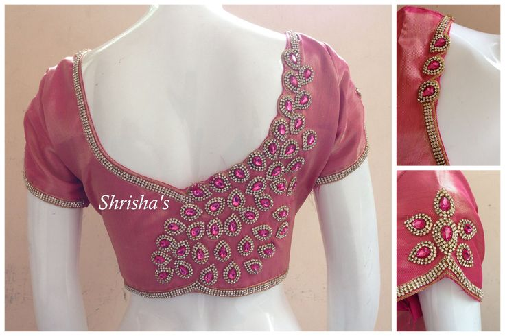 Pretty in Pink..!!!BLOUSE CODE: B075Kindly inbox/ email us for price details Call us/ Whatsapp/ Viber: 9894614882Email: shrishas.sai@gmail.comShipping worldwideDelivery within 5 working Days  15 October 2016