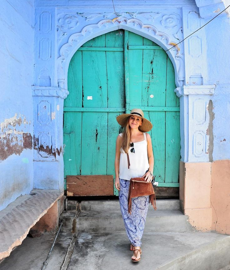 ...Liz.....In the blue city of Jodhpur. More from India: http://www.travelplusstyle.com/?s=india   Photo © TravelPlusStyle.com
