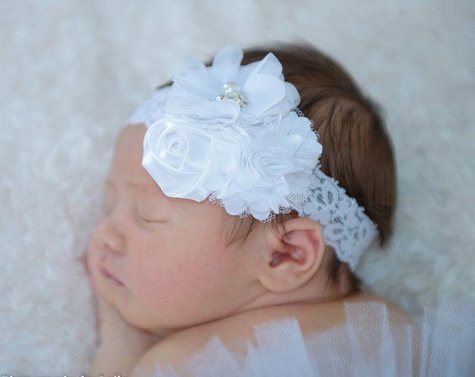 Diademas Para Bebes Bautizo Perfect Simple Neutro Beb Chicarecin