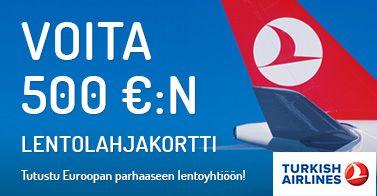 Voita 500 euron lentolahjakortti! http://www.rantapallo.fi/turkish-airlines/