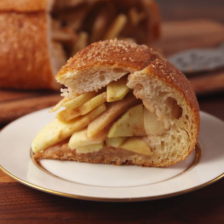 You NEED apple pie in a bread bowl.
