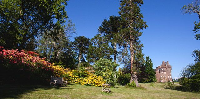 The Isle of Arran is the location of Brodick Castle, Garden & Country Park, cared for by the Trust #NTSIslands