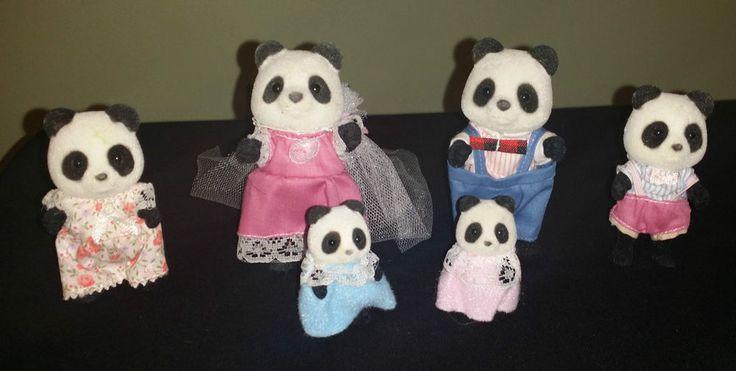 Vintage Sylvanian Families Tomy 1980 s - Bamboo Panda Family