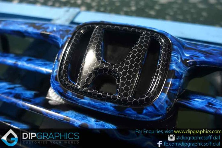 Hydro-Dipped-Honda-Stream-Front-Grill-in-Blue-Flames-3