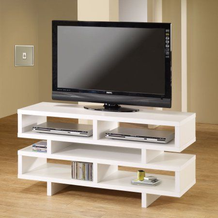 Coaster White Organize TV Console for TVs up to 46 inch