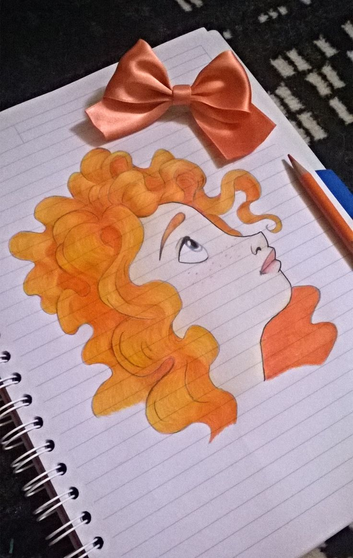 #Merida #TheBrave #Disney #Ribelle #myfavouriteprincess #disneyart #art #fanart #disneyfanart #lovedisney #loveart #lovedrawing #draw #drawing #pencils #colors #orange #Italy #babapente #Sardinia #princess #disneyprincess #Ribellefanart #TheBravefanart #Meridafanart #Meridateam #bow #peach #shadows