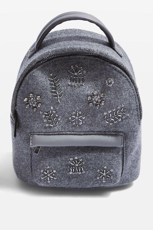Velvet Embellished Mini Backpack from Topshop R580,00