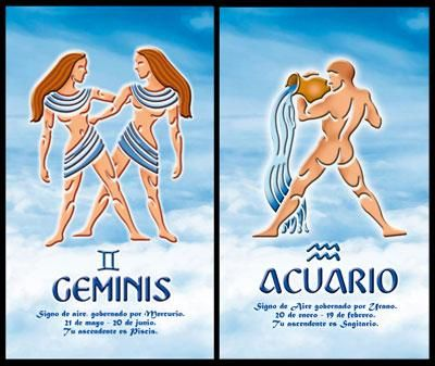 Gemini_And_Aquarius:- When Gemini man meets Aquarius woman, it becomes a case of mutual appreciation between them. Both have high intellect and would like to engage in very meaningful conversations. Together they will explore many new vistas and in the process go on savoring new experiences....
