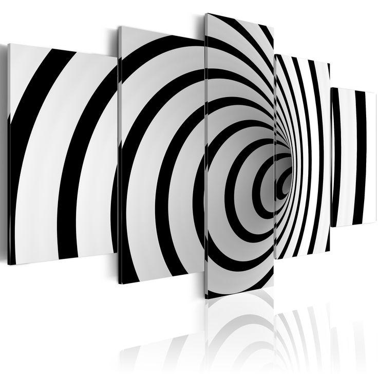 Obraz abstrakcja #abstract #black #white #art #deco #wall #dekoracje #wnętrza