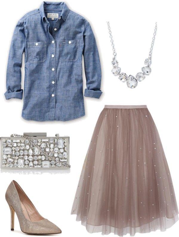 Chambray Shirt Tulle Skirt