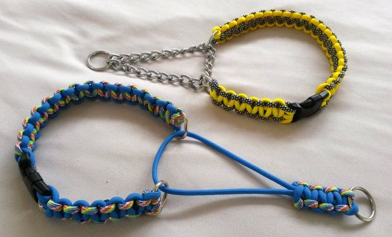 Martingale collar with side release buckle Paracord by NifftyKnots