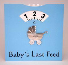 Deze kaart versturen wij voor jou! Nooit meer vergeten hoe laat je voeding gegeven hebt!  De perfecte praktische wenskaart voor een nieuwe mama en een nieuwe baby!    Het draaiende wiel houdt de tijd bij van baby's laatste voeding.