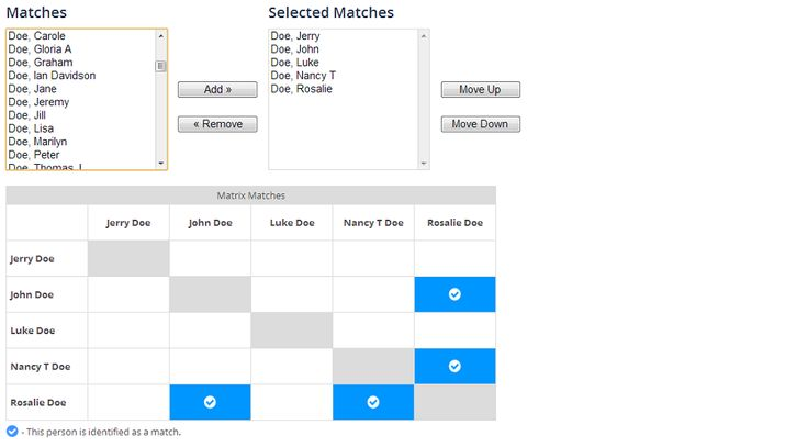 Family Tree DNA's Family Finder Match Matrix Released