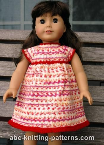Free knitting pattern - American Girl Doll Carolina Summer Dress