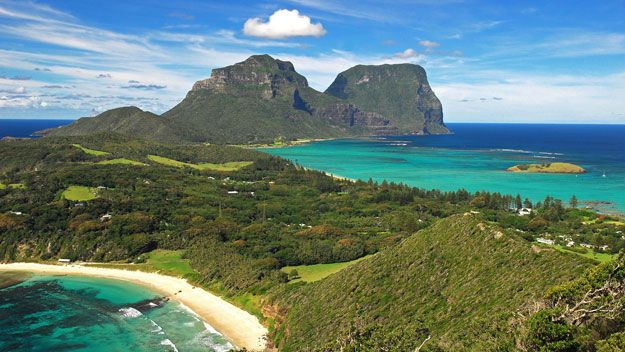 Because of its spectacular scenic beauty and tame wildlife, Lord Howe Island is a South Pacific paradise.