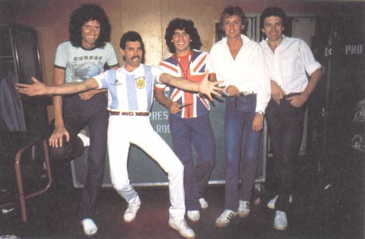 Diego Maradona and Queen set truce