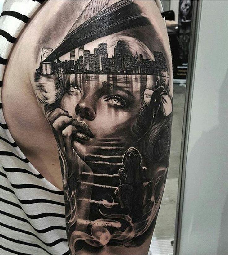 Oltre 25 fantastiche idee su realismo tatuaggi su for Badass angel tattoos